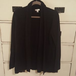 Black Croft & Barrow Soft Sweater Cardigan